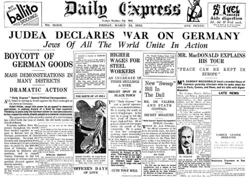 Daily Express - Judea Declares war on Germany
