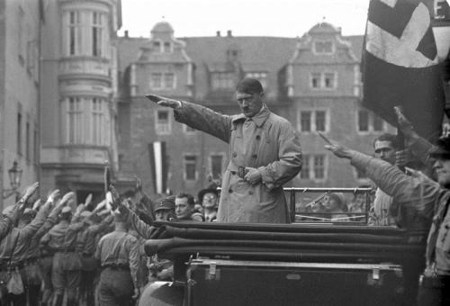 Adolf Hitler in Weimar, October 1930