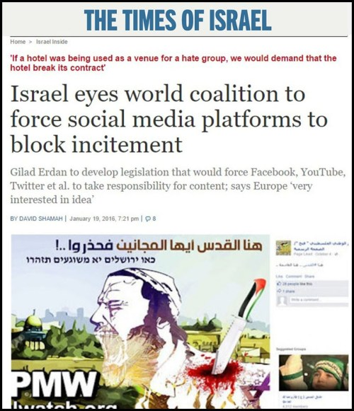 Israel Demands World Internet Censorship-TOI censorship