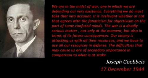 Dr. Joseph Goebbels about the WWII