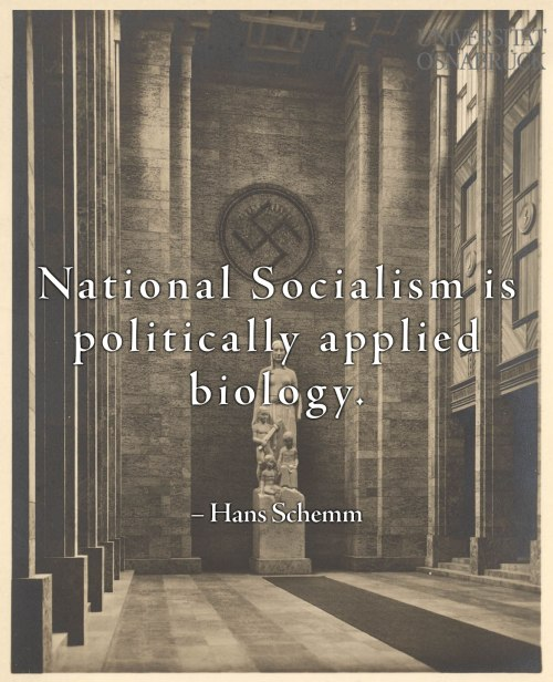 National-Socialism is Politically Applied Biology
